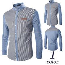 New Fancy Simple Design Formal Dress Men's Stripe Shirts