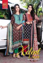 Xclent Printed Linen 03 pcs salwar kameez