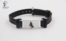 High polished fashion bracelets 2015 one direction leather bracelets high quality luxury leather bracelet for wholesales