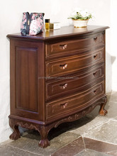 Chippendale solid wood chest of drawers