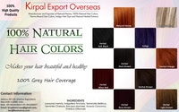 100% Best Ammonia Free Hair Coloring colors