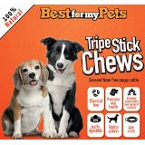 """Natural Tripe Stick Chews 5"""" Grain Free Chew Sticks for Puppies & Dogs - Great for Small or Senior Dogs -..."""