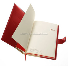 Red Hot Sale Of Genuine Leather Planner With Press Button Lock