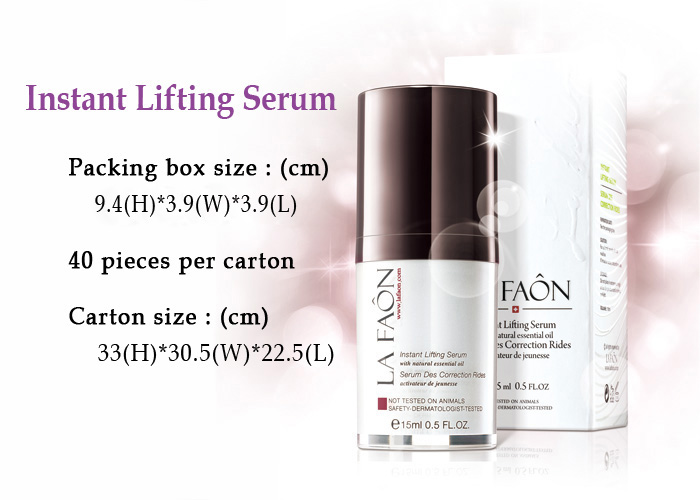 Instant Lifting serum skin care products