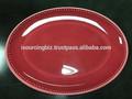 100% melamina/completa de color rojo de impresión en color de melamina ovalada placa/estándar de la ue de la placa de melamina