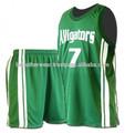de baloncesto de la muestra de diseño uniforme de baloncesto uniforme del equipo de baloncesto uniforme de diseño verde