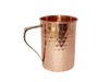 SOLID COPPER STRAIGHT MUG 16 OUNCE COPPER HAMMERED WITH REGULAR HANDLE