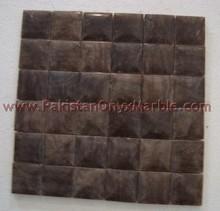 Kitchen Back Black Onyx mosaic tiles