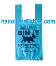 HDPE TSHIRT/FLAT ON ROLL DOG POOP PLASTIC BAG