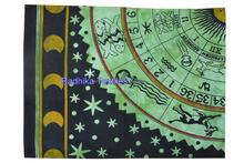Zodiac Horoscope Tapestry Astrology Hippie Wall Hanging , Bohemian Bedsheet hippie mandala tapestry 100% cotton wholesale jaipur