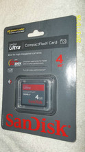 Authentic SaniDisk 4 GB CF Compact Flash Extreme 30MBs Memory Card