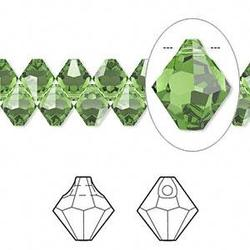 #6301 Crystal Bicone Pendants faceted Fern Green 6mm 360PCs/Bag Sold By Bag