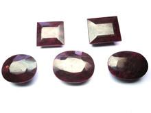Natural Dyed Dark Red Beryl Mix Shape Normal Cut Loose Gemstone