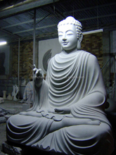 Large Stone Buddha Statue Hand Carving Sculpture Marble