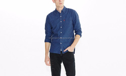 New Look Men's Double Pocket Long Sleeve Casual Shirt