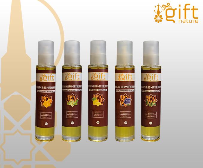 Argan huile cosmétique avec euclyptus huile essentielle