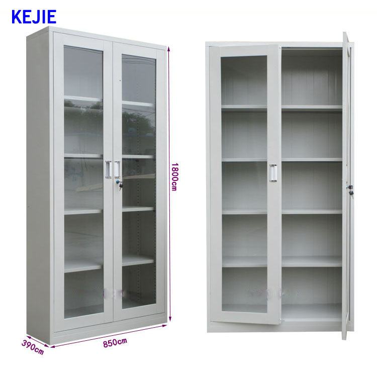 Luxury Home Office Furniture Storage Sliding Glass Door File Cabinet