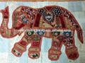 vintage indio de pared decorativos colgantes elefante de edad patchwork tapiz tapices