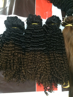 Gold suppliers on Alibaba Virgin Curly Hair Extention , Beautiful Brazilian Human Hair Extension SARAHAIR COMPANY