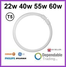 OSRAM, GE, Philips, Sylvania 4 PIN CIRCULAR MAGNIFIER LAMP T5 FLUORESCENT TUBE In 22w 40w 55w 60w 3000K 4000K