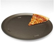 Popular aluminum Pizza pan with non-stick coating