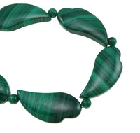 Malachite klace ass s asp t Heart natural 5mm 29x14x5mm Sold Per pr 18 Inch Strand