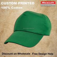 custom light green cycling hats printed