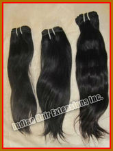 Finest quality silky straight hot sale virgin indian remy hair in 100% human hair selling well
