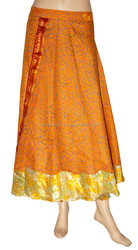 INDIAN TRADITIONAL WEAR WITH A MODERN LOOK VINTAGE MAGIC WRAP SILK SARI SKIRT- WEAR IN 100WAYS