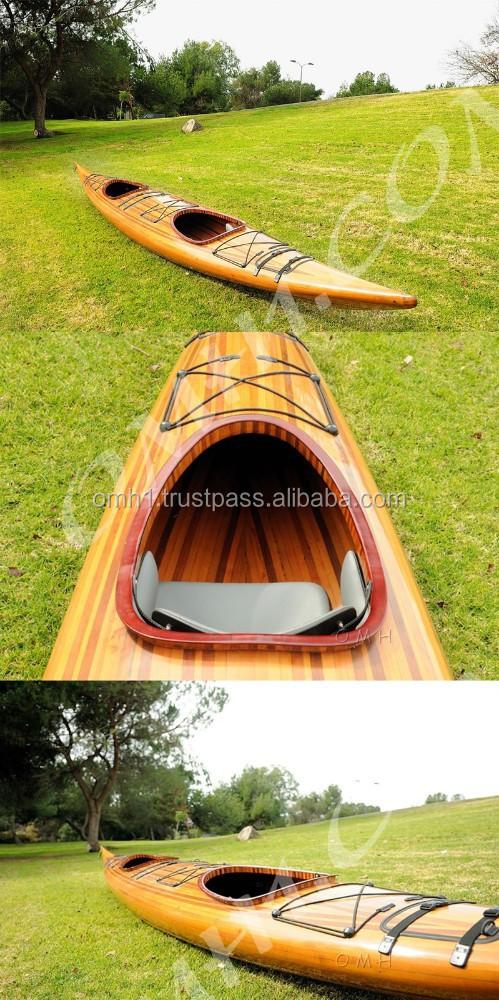 Real Full Size Wooden Canoe, Cedar Strip Kayak