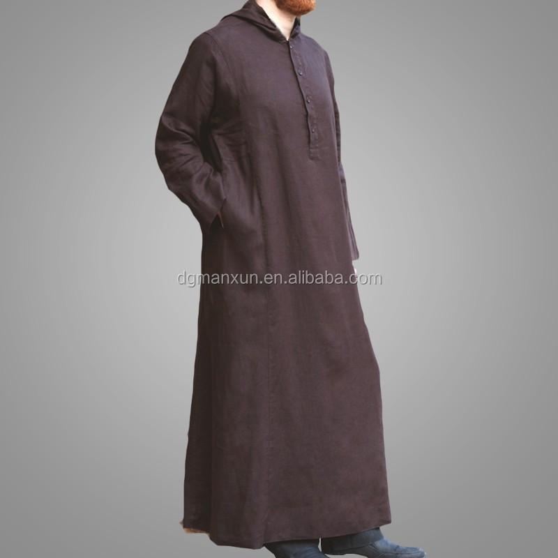 High Quality Daffah Thobe Arabian Robe Saudi Style Muslim Clothing For Men Arabic Thobe Jubbah4.jpg