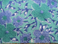 new latest flower prints on 100% Cotton Material cotton hand block print fabric