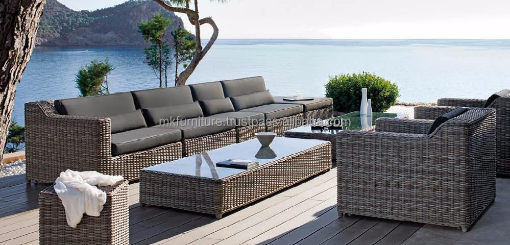 wicker rattan sofa furniture resin rattan garden sofa set