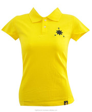 Popular selling women polo t shirt with personalized design