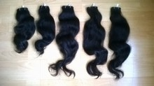 virgin human double drawn wavy unprocessed hair extension