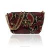 Women genuine leather handbag e Shoulder Bag for ladies snake print made in italy