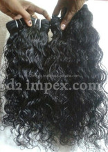 Natural Unprocessed No Tangle No Shed Remy Raw Indian Virgin Human Hair Weave Straight wavy Curly