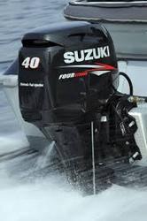 USED SU ZU KI 40 HP 4 STROKE OUT BOARD MOTOR