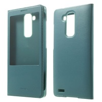 Wholesale Popular Low MOQ Leather Case with View Window for Huawei Ascend Mate7 - Light Blue