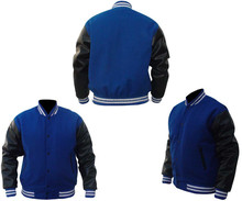 2015 college style baseball mans wool varsity jacket quilted linning