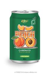 OEM Canned Low Sugar Carbonated Peach Juice
