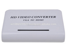 Buy High Definition VGA to HDMI TV HD Video Signal Converters - White with Best Wholesale Price