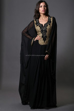 Antique gold stone beaded Dubai style kaftan farasha abaya