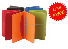 Colorful Attractive PU Leather Credit Card Case / Faux Leather Card vCase / Business Card Case