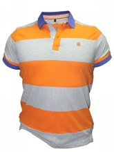 cotton fabric 2015 popular yellow blank t shirt polo
