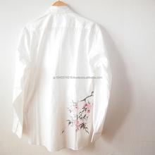 Tsumugilabo tradicional japonés camisas by handcraftman de trabajo de diseño made in japón Sakura