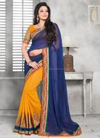 Saree fancy blouse designs