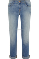 2015custom bulk women casual feet jeans,latest design loose maxi jeans for ladies,popular boyfriend girls jeans/ light blue jean