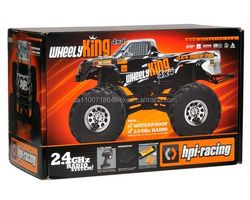 HPI Wheely King 4WD RTR Monster Truck w/2.4GHz Transmitter Battery & Charger HPI106173
