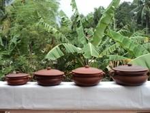terrakotta Curry schüssel mit griff